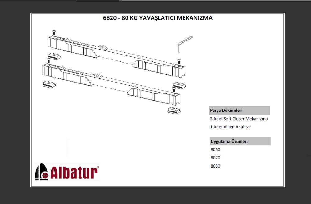 ALB 6820 80 KG YAVA�LATICI S�STEM