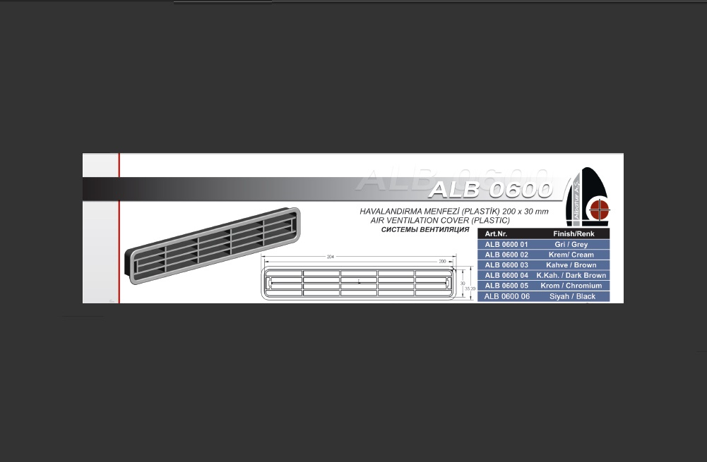ALB 0600 PLAST�K MENFEZ 30*200 MM