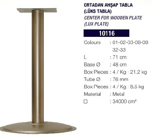 OSENA ORTADAN AHŞAP TABLA 10116