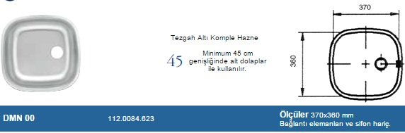 DOM�NOX �EL�K EVYE DMN00 112.0084.623 PASLANMAZ