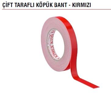 ÇİFT TARAFLI KÖPÜK BANT  KIMEX - KIRMIZI